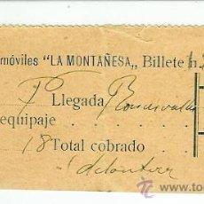 Coleccionismo Billetes de transporte: AM3. BILLETE EMPRESA LA MONTAÑESA( NAVARRA).VIAJE A RONCESVALLES. Lote 26844595