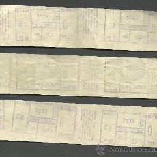 Coleccionismo Billetes de transporte: 0092 CONJUNTO DE BILLETES DOBLES DE LA EMT DE MADRID AÑOS 1974 Y 1975. Lote 23118060