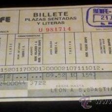 Coleccionismo Billetes de transporte: BILLETE TREN RENFE - LEÓN A SAN SEBASTIÁN - 1979. Lote 27299225