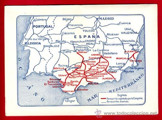 Coleccionismo Billetes de transporte: TREN, FERROCARRIL FERROCARRILES ANDALUCES , BILLETE LIBRE CIRCULACION 1932 1ª CLASE, F18 - Foto 2 - 24118481