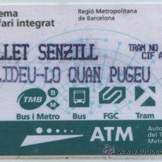 Coleccionismo Billetes de transporte: TARJETAS DE TRANVIA DE BARCELONA // T TRAM. Lote 24880743