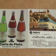 Coleccionismo Billetes de transporte: RENFE CONTINETAL AUTO. BILLETE MADRID-SAN SEBASTIÁN. 1983.. Lote 25985581