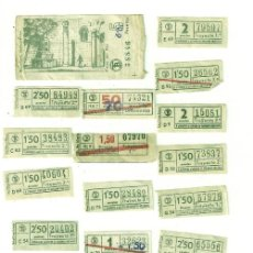 Coleccionismo Billetes de transporte: BILLETES TRANVIA CAPICUAS. Lote 26466105