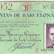 Coleccionismo Billetes de transporte: CARNET TRANVIAS DE BARCELONA 1952. Lote 26466300