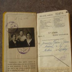 Coleccionismo Billetes de transporte: BILLETE KILOMÉTRICO, TARIFA 109 -EN -. MADRID 3-IX-32. 7 PÁGINAS. DIM.- 18,25X10,5 CMS.. Lote 26638510