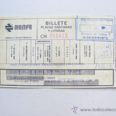 Coleccionismo Billetes de transporte: BILLETE TRANSPORTE RENFE, APARENTEMENTE 1964. Lote 28464554