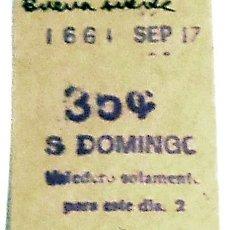 Coleccionismo Billetes de transporte: BILLETE METRO MADRID STO.DOMINGO 50S CAPICÚA. Lote 29350671