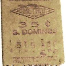 Coleccionismo Billetes de transporte: BILLETE METRO MADRID STO. DOMINGO 50S CAPICÚA. Lote 29350820