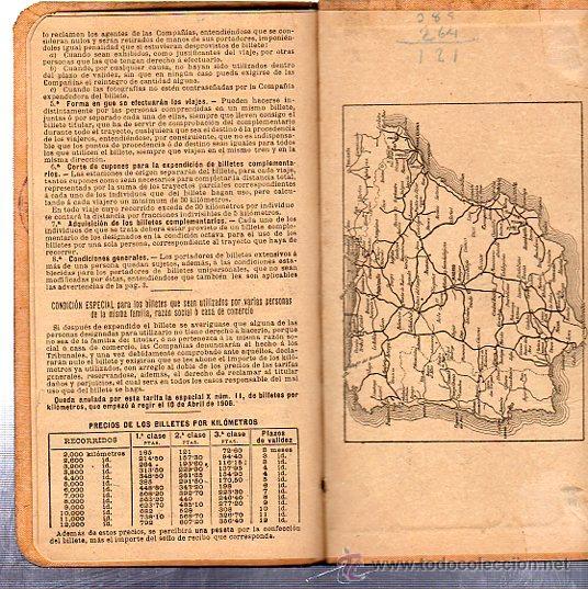 Coleccionismo Billetes de transporte: BILLETE POR KILÓMETROS, PRIMERA CLASE, SERIE C, 1909-1910 - Foto 5 - 29693002
