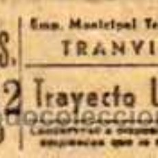 Coleccionismo Billetes de transporte: BILLETE TRANVIA. EMT TRAYECTO UNICO.29992 BI- R89. MADRID. 40 CTS . Lote 29707783