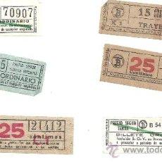 Coleccionismo Billetes de transporte: PS3364 LOTE DE SEIS BILLETES DE TRANVÍA CAPICUAS. BARCELONA. Lote 29738932