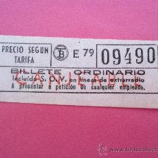Coleccionismo Billetes de transporte: BILLETE DE TRANVIA ,CAPICUA , CANJEABLE - TRANVIAS DE BARCELONA , BILLETE ORDINARIO. Lote 29836279