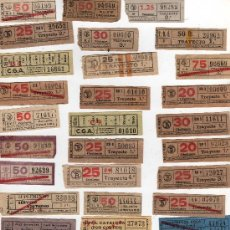 Coleccionismo Billetes de transporte: (M) LOTE DE 319 BILLETES DE TRANVIA, CAP I CUA, VER FOTOGRAFIAS ADICIONALES. Lote 29851300