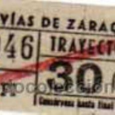 Coleccionismo Billetes de transporte: TRANVIAS DE ZARAGOZA. 13046. SERIE FI 30 CENT. TRAYECTO 2º.. Lote 30819474
