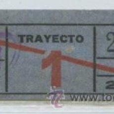 Coleccionismo Billetes de transporte: GSC 224 BILLETE COMPAÑIA GENERAL DE AUTOBUSES CGA DE BARCELONA // RARO EL TIP0. Lote 31067515
