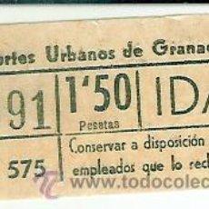 Coleccionismo Billetes de transporte: BILLETE AUTOBUSES DE GRANADA. Lote 31593032