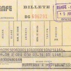 Coleccionismo Billetes de transporte: BILLETE DE TREN RENFE 1977 - OVIEDO - MADRID CHAMARTIN -. Lote 31684297
