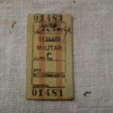 Coleccionismo Billetes de transporte: BILLETE MILITAR DE TREN AÑO 37 . LUGO-ASTORGA. Lote 31923974