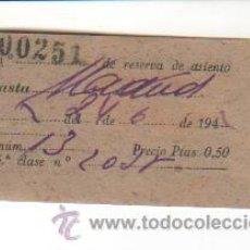 Coleccionismo Billetes de transporte: BILLETE DE LA RED NACIONAL DE LOS FERROCARRILES ESPAÑOLES - ZONA OESTE - ANDALUCES. AÑOS 40. Lote 32298833