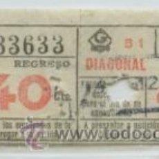 Coleccionismo Billetes de transporte: GSC 336 BILLETE DEL METRO DE BARCELONA. Lote 32361335