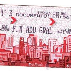 Coleccionismo Billetes de transporte: BILLETE SENCILLO RENFE. Lote 32579339