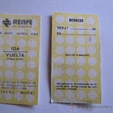 Coleccionismo Billetes de transporte: BILLETE RENFE. Lote 33031244