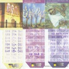 Coleccionismo Billetes de transporte: BONOBÚS DE ZARAGOZA. AÑO 1996. 10 EJEMPLARES CUADROS MUSEO DE ZGZA.. Lote 33634075