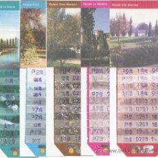Coleccionismo Billetes de transporte: BONOBÚS DE ZARAGOZA. AÑO 1998. 9 EJEMPLARES PARQUES DE ZARAGOZA.. Lote 33638678