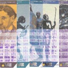 Coleccionismo Billetes de transporte: BONOBÚS DE ZARAGOZA. AÑO 1997. 11 EJEMPLARES MUSEO PABLO GARGALLO. Lote 33638684