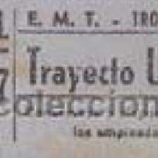 Coleccionismo Billetes de transporte: BILLETE DE TROLEBUS CAPICUA. BILLETE Nº 71017. Lote 34397296