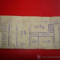 Coleccionismo Billetes de transporte: BILLETE CAPICUA - Nº 0990 - EMT MADRID - CLASE ESPECIAL AEROPUERTO. Lote 35127042