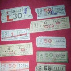 Coleccionismo Billetes de transporte: LOTE 9 BILLETES CAPICUAS BARCELONA TRANVIAS. Lote 35678289