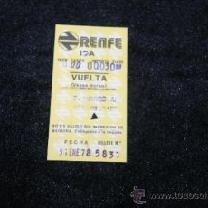 Coleccionismo Billetes de transporte: ANTIGUO TIQUET DE RENFE DE 1978. Lote 35719693