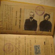 Coleccionismo Billetes de transporte: ANTIGUO BILLETE KILOMÉTRICO 1ª CLASE, SERIE E, 4.400 KMS, ORIGINAL DEL AÑO 1910, . Lote 36210075