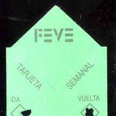 Coleccionismo Billetes de transporte: TARJETA SEMANAL FEVE - FUSO DE LA REINA OVIEDO 16/5/94. Lote 36358381