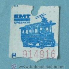 Coleccionismo Billetes de transporte: BILLETE EMT VALENCIA. H 914816. Lote 38245562