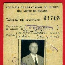 Coleccionismo Billetes de transporte: CARNET, FERROCARRILES COMPAÑIA CAMINOS DE HIERRO NORTE ESPAÑA , 1935 , ORIGINAL. Lote 40323684