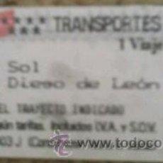 Coleccionismo Billetes de transporte: BILLETE DE METRO DE MADRID. Lote 40372354