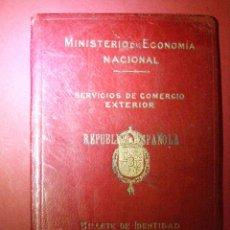 Coleccionismo Billetes de transporte: CARTERA PARA BILLETE DE IDENTIDAD PARA VIAJANTES DE COMERCIO DURANTE LA REPÚBLICA. Lote 40701633