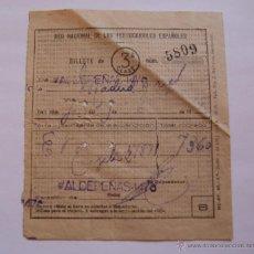 Coleccionismo Billetes de transporte: ANTIGUO BILLETE DE TREN MADRID-ATOCHA - VALDEPEÑAS DE 1956. Lote 40773173