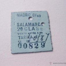 Coleccionismo Billetes de transporte: BILLETE DE TREN ANTIGUO PARA SALAMANCA. Lote 40962398