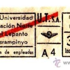 Coleccionismo Billetes de transporte: BILLETE URBANIZACIONES Y TRANSPORTES (URBAS) \ VARIOS TRAYECTOS \ 3,50 PTAS \ CAPICUA. Lote 41144388