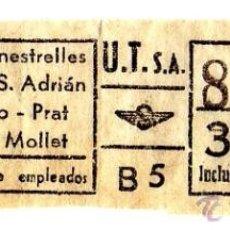 Coleccionismo Billetes de transporte: BILLETE URBANIZACIONES Y TRANSPORTES (URBAS) \ VARIOS TRAYECTOS \ 3,50 PTAS \ CAPICUA. Lote 41144399