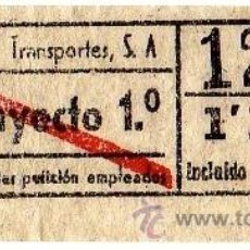 Coleccionismo Billetes de transporte: BILLETE URBANIZACIONES Y TRANSPORTES (URBAS) \ TRAYECTO 1 \ 1,10 PTAS \ CAPICUA. Lote 41353495