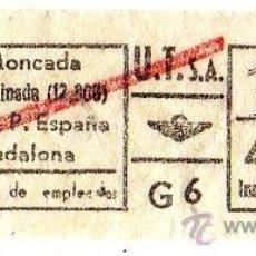 Coleccionismo Billetes de transporte: BILLETE URBANIZACIONES Y TRANSPORTES (URBAS) \ VARIOS TRAYECTOS \ 4,50 PTAS \ CAPICUA. Lote 41353505