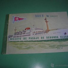Coleccionismo Billetes de transporte: BILLETE DE PASAJE,COMPAÑIA TRASMEDITERRANEA. Lote 42721853