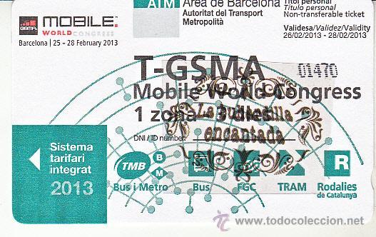 Billetaje Barcelona Tarjeta T Gsma 1 Zona 3 Sold Through Direct Sale 42776708