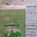 Coleccionismo Billetes de transporte: KILOMETRICO RENFE 5.000 KM. PARA FAMILIARES DE PERSONAL 2ª CLASE Y DOS BILLETES MALAGA SEVILLA. . Lote 42818433