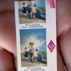 Coleccionismo Billetes de transporte: BILLETE TICKET METRO MADRID IMAGEN LA VENDIMIA GOYA 14 XI 89. Lote 43329481