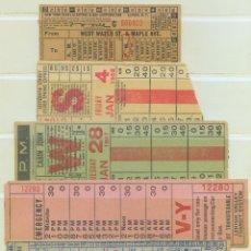 Coleccionismo Billetes de transporte: LOTE DE 5 BILLETES DE ESTADOS UNIDOS. Lote 43372074